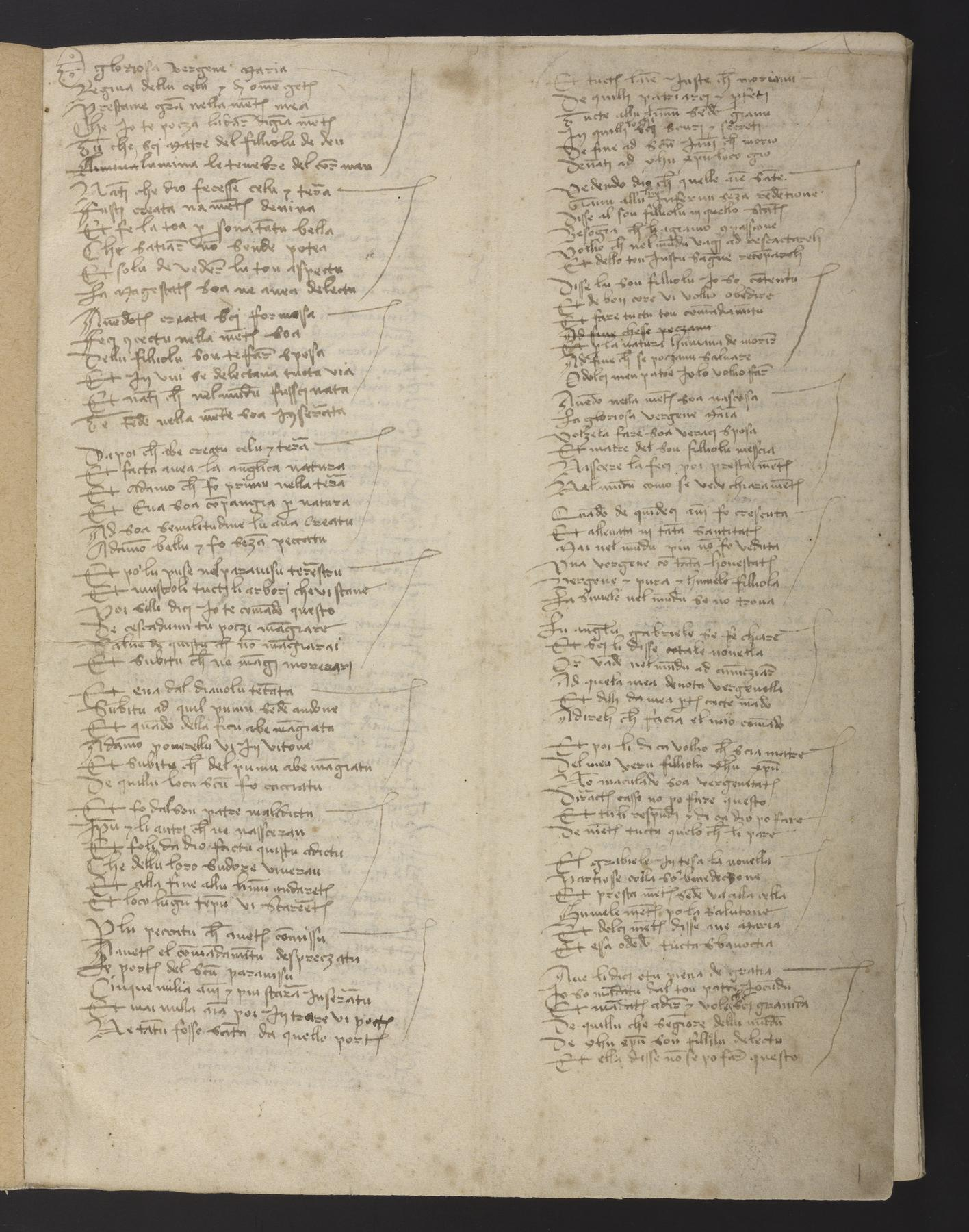 OPenn: Ms  Codex 249 Carmine alla Beata Vergine Maria